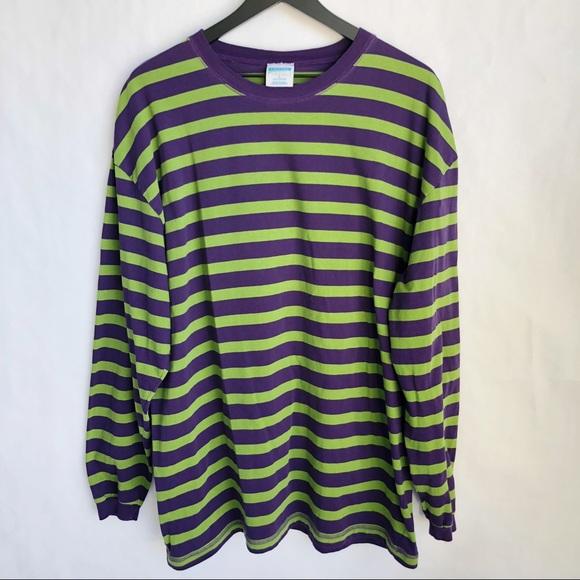 02a55c4e3d9d44 Vintage Shirts | Cheetah 90s Striped Long Sleeve Tshirt | Poshmark